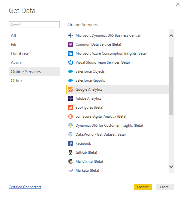 How to connect to Google Analytics Using Power BI - Power BI Data